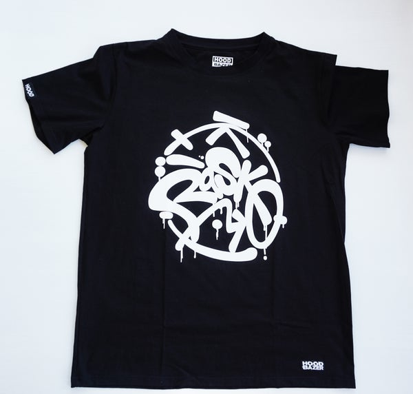 Image of RASKO Black T-shirt Doubleprinted