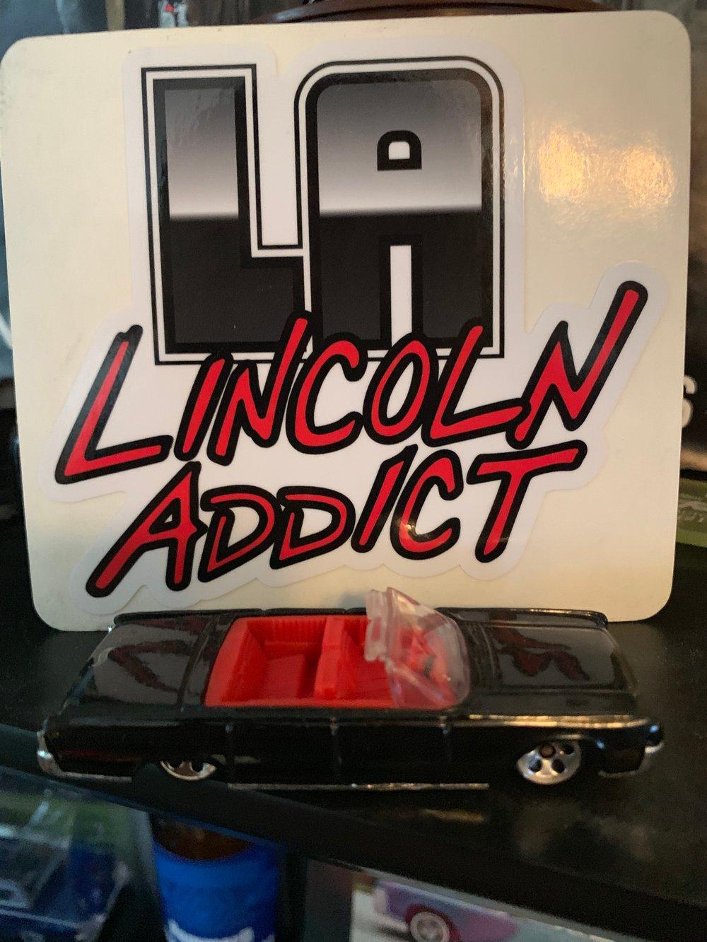 Image of Lincoln Addict (Black & Red) Sticker