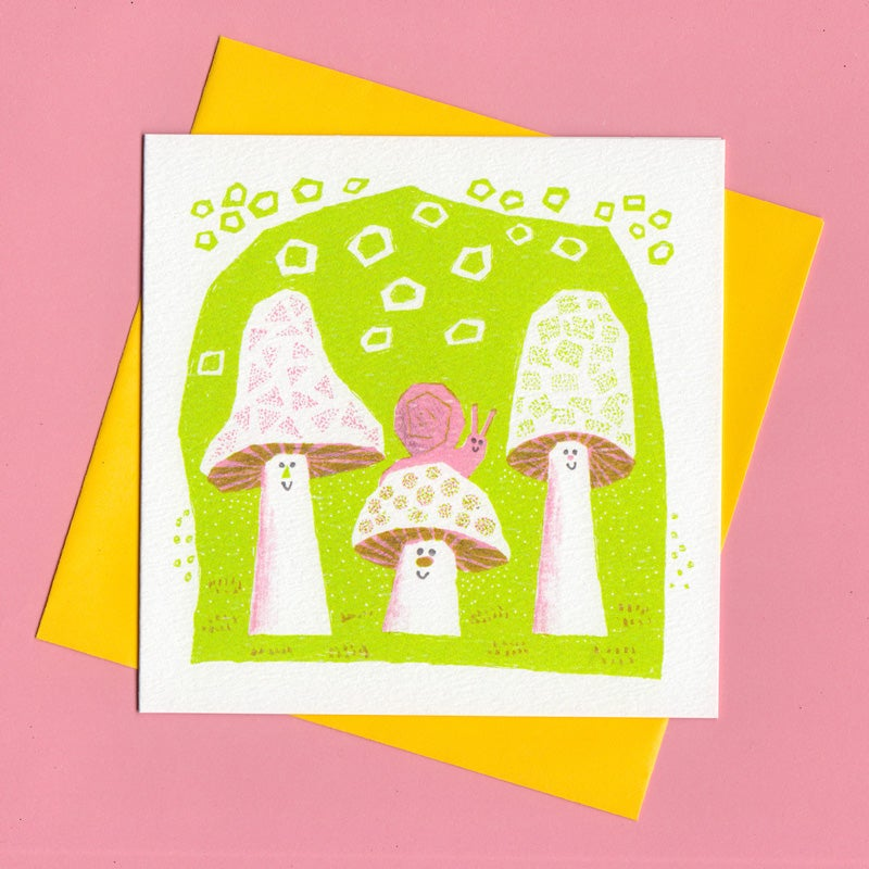 Image of What A Funghi, Mushroom Card