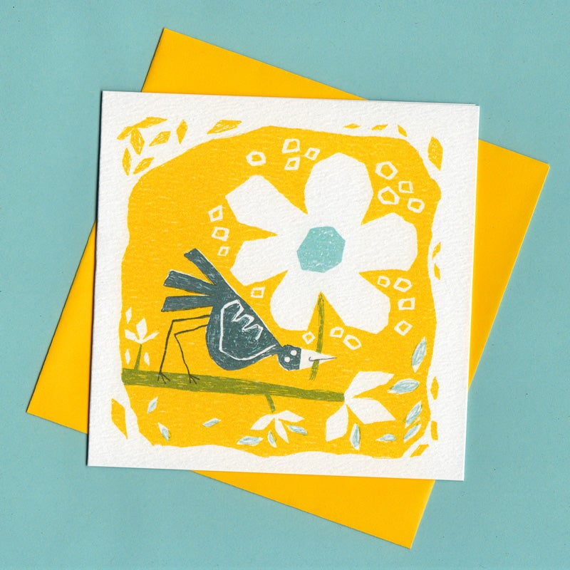 Image of Just For You, Bird Flower Card
