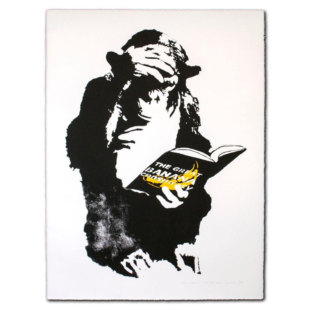 Image of Rip Art - The Great Banana Conspiracy (white)