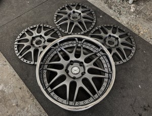 "Image of 20"" S16 Textured Gunmetal for Porsche (reverse lip) or 21"" Step Lip"