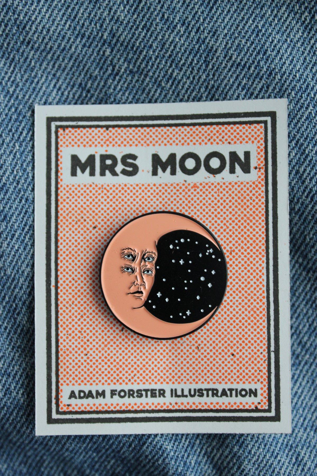 Image of Mrs Moon Soft Enamel Pin