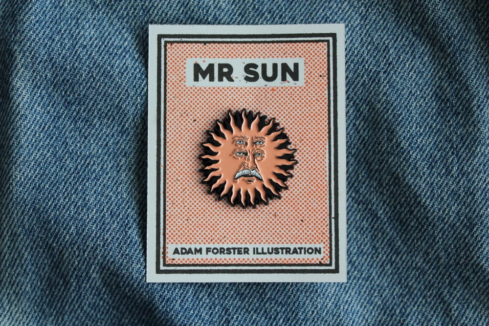 Mr Sun Soft Enamel Pin