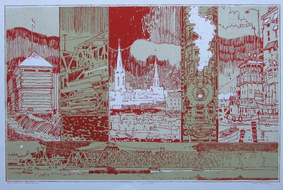Image of silkscreen print by Wendell Mohr