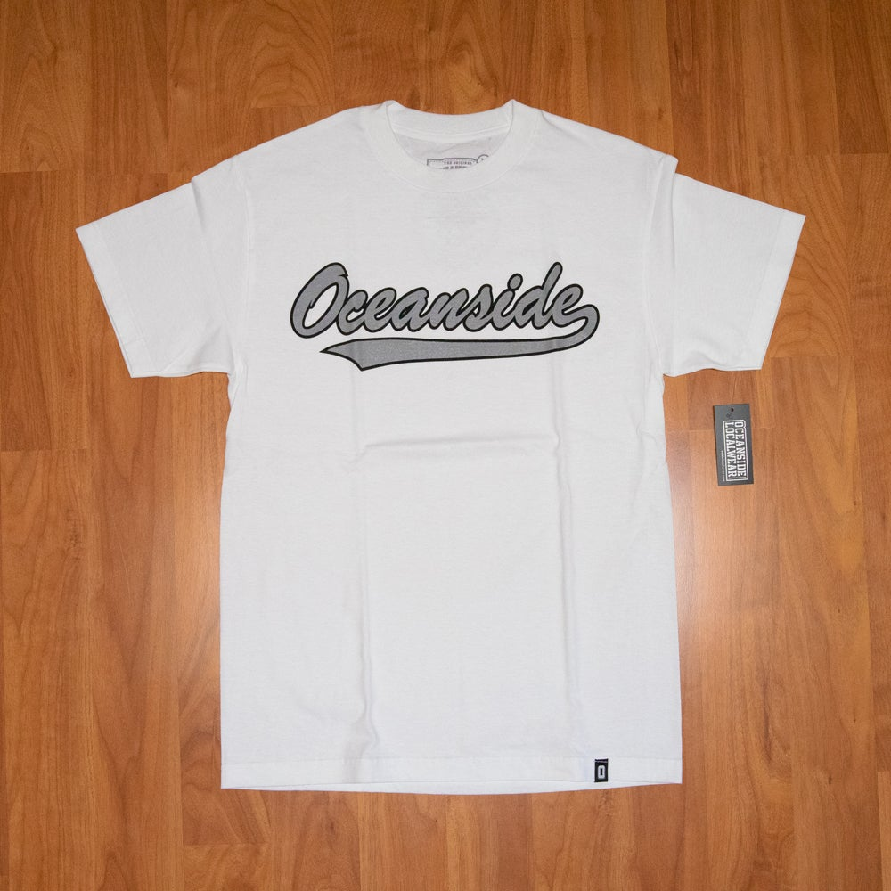 Image of Oceanside Baseball Script T-shirt: Vintage II