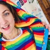 Adults Patchwork Rainbow Bomber Jacket - Fully Lined Version