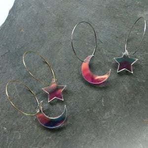 Image of Shimmer Moon Star Earrings
