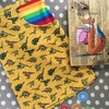 Rainbow Pocket Mustard Dino Skirt