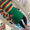 Green Rainbow Pocket Button Up Skirt