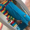 Rainbow Corduroy Button Up Dress