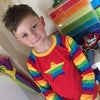 Rainbow Star Patch Raglan Tee