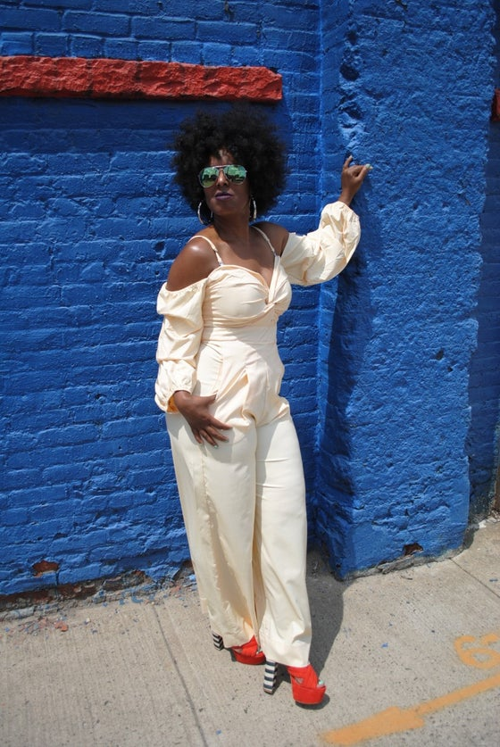 Image of Banana Yellow Wide Leg Jumpsuit