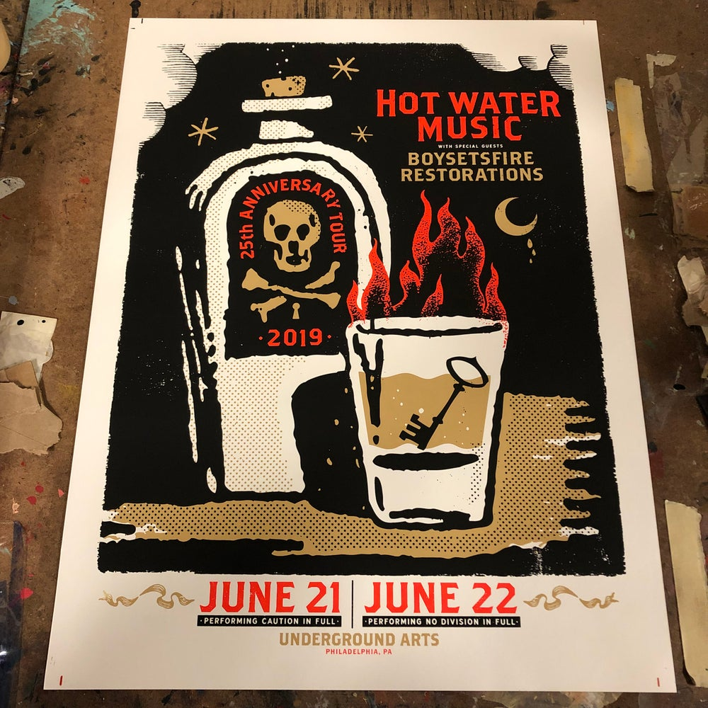 Image of Hot Water Music 6.21/6.22 - 18x24 poster
