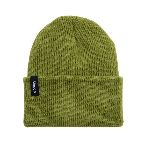 Image of Pea Green Knit Cuff Beanie