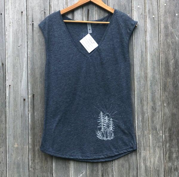 Image of Crystal Earthscape women's sleeveless tee