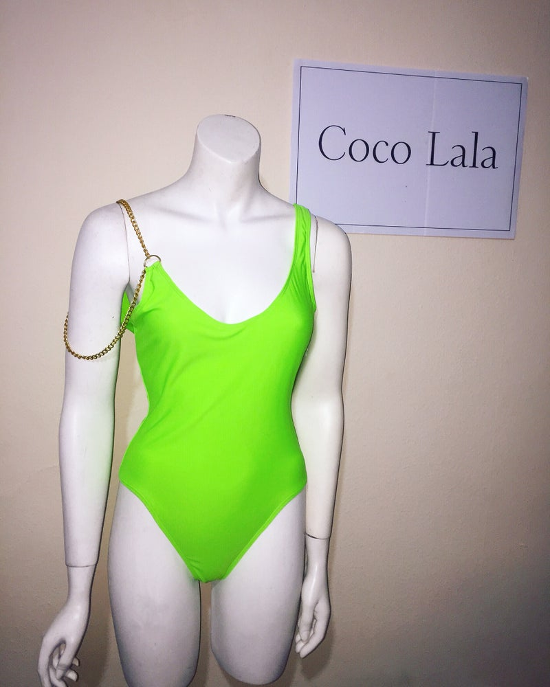 Image of Marbella swimsuit - lime neon green
