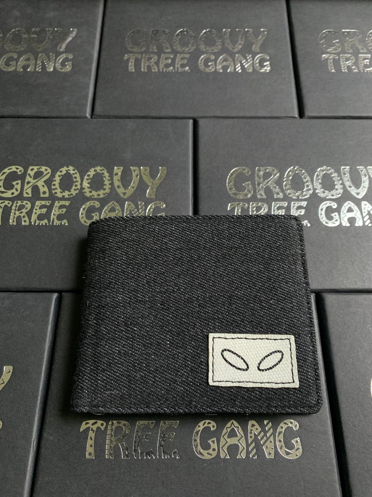 Image of Groovy Denim/Leather Bi-Fold Wallets