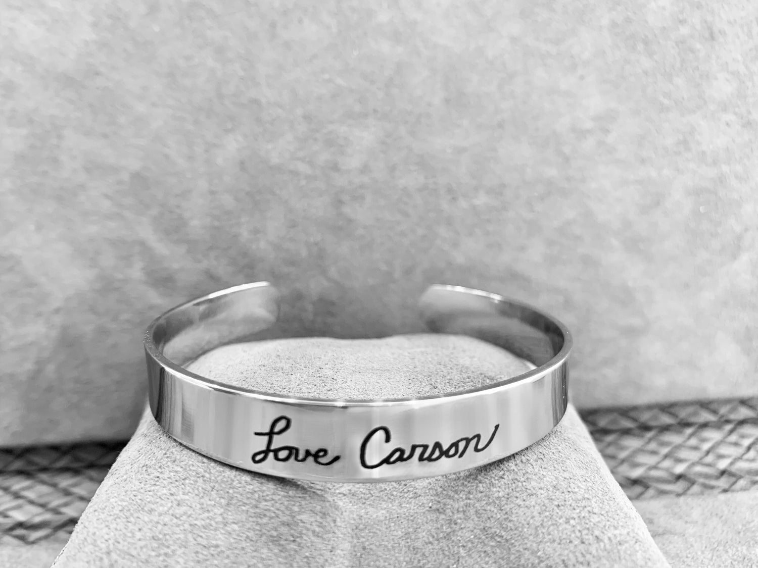 Image of Limited Edition Custom Engraved Stainless Steel Cuff Bracelet