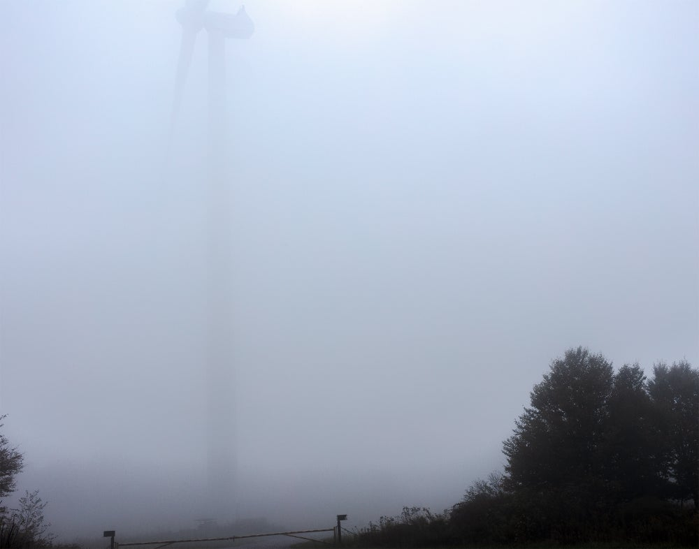 Image of  Turbine in the Fog, Tucker County, West Virginia (TCWV4672), 2018