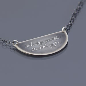 Image of Sterling Silver Marcus Aurelius Quote Necklace