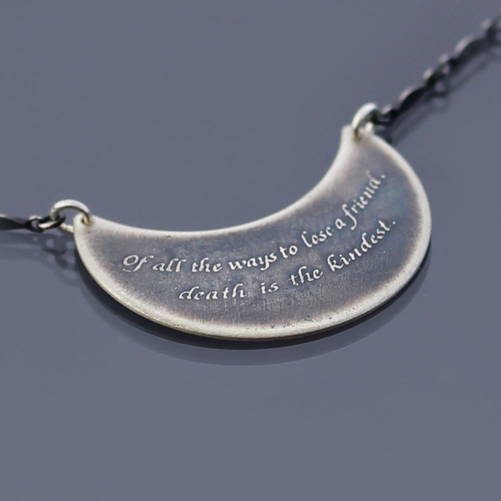Image of Sterling Silver Emerson Quote Necklace