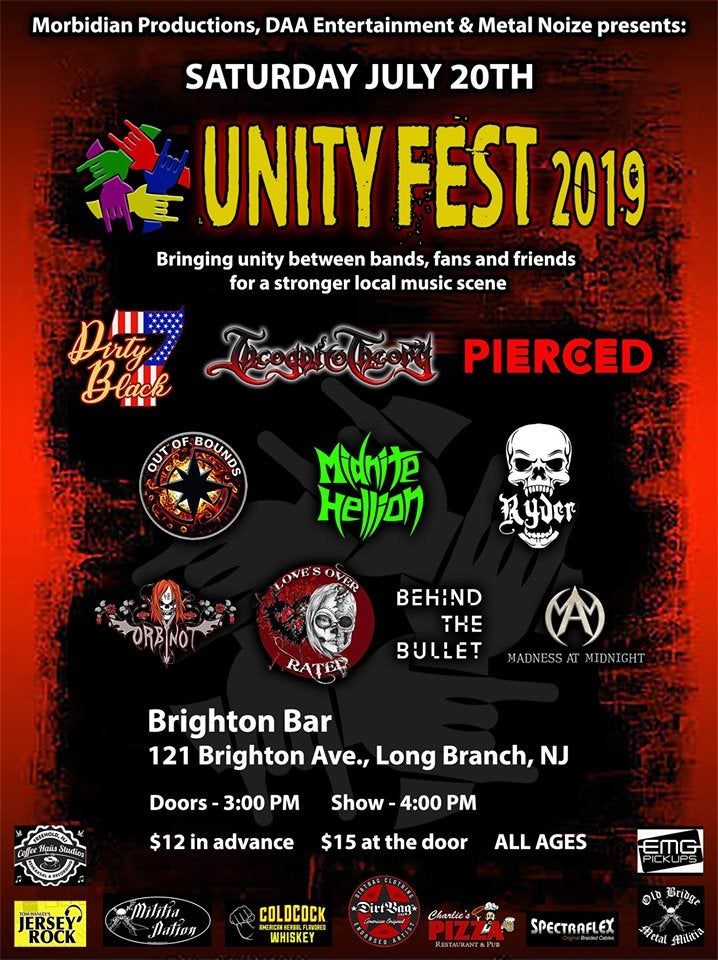 Image of Out Of Bounds : Unity Festival Tickets @ The Brighton Bar