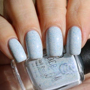 Image of Misty Mountains a super light blue crelly full of teeny blue metallic flakes
