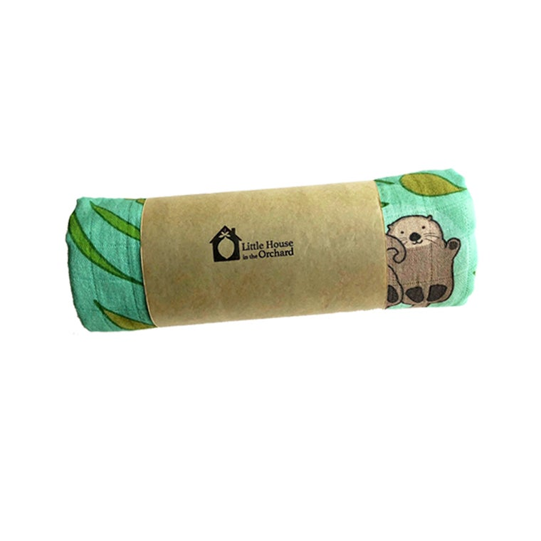 Image of Otters Organic Swaddle Blanket
