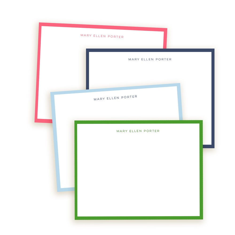 Image of Classic Border Personalized Note Cards