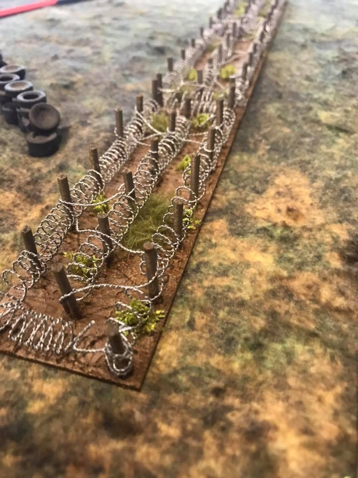 Image of Barbed wire, minefields and battlefield defences