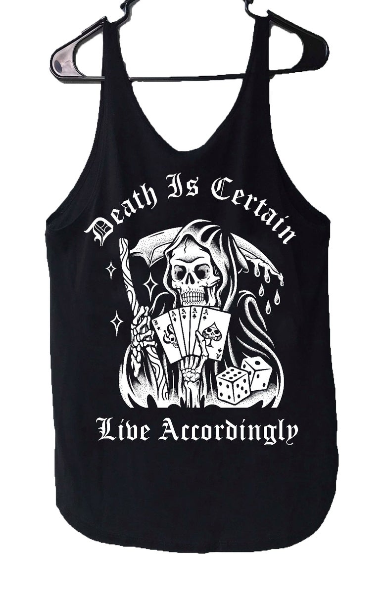 Image of Death Is Certain WOMENS Tank-Tops