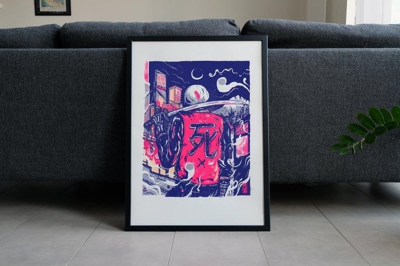 Image of SHI - 3 color screenprint 50x70cm