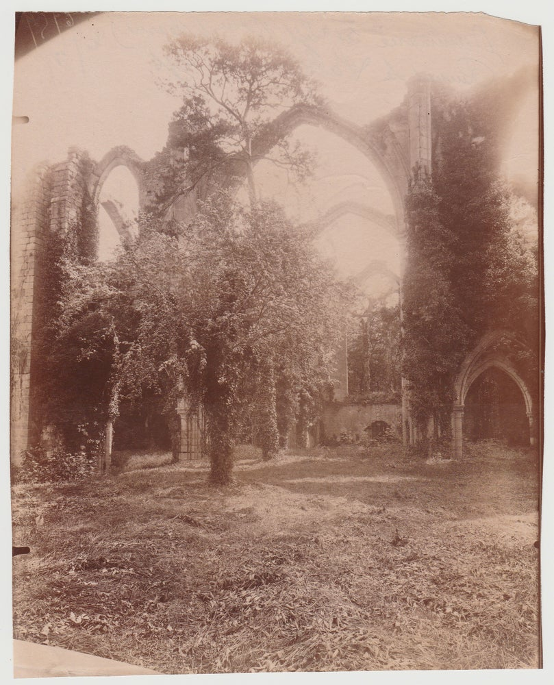 "Image of Atget: the ruins of ""l'Abbaye du Lys"" at Dammarie-les-lys, ca. 1910"