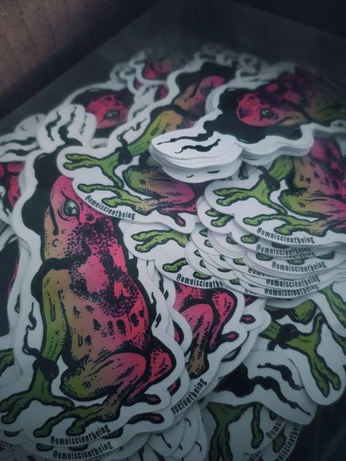 Image of Poison frog - vinyl sticker