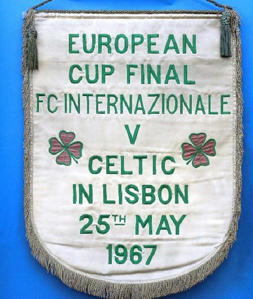 Image of Celtic 1967 European Cup Final Replica Pennant - 1:1 size