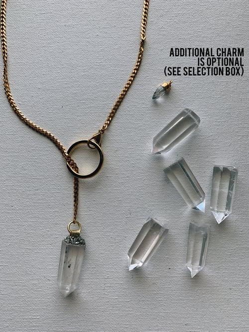Image of DROP TOP • Convertible Lariat Necklace | Clear Quartz
