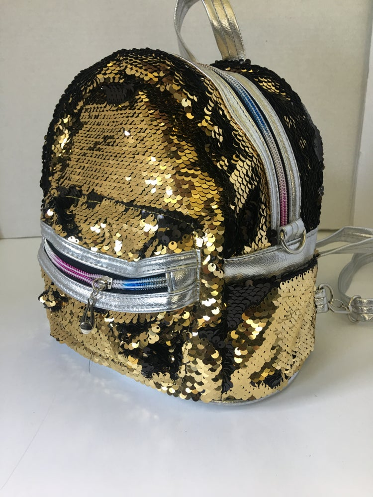 Image of Silver/Gold Mini Sequin backpack