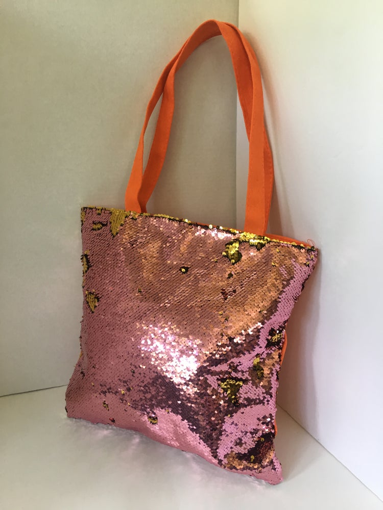 Image of large sequin tote bag 3COLORS