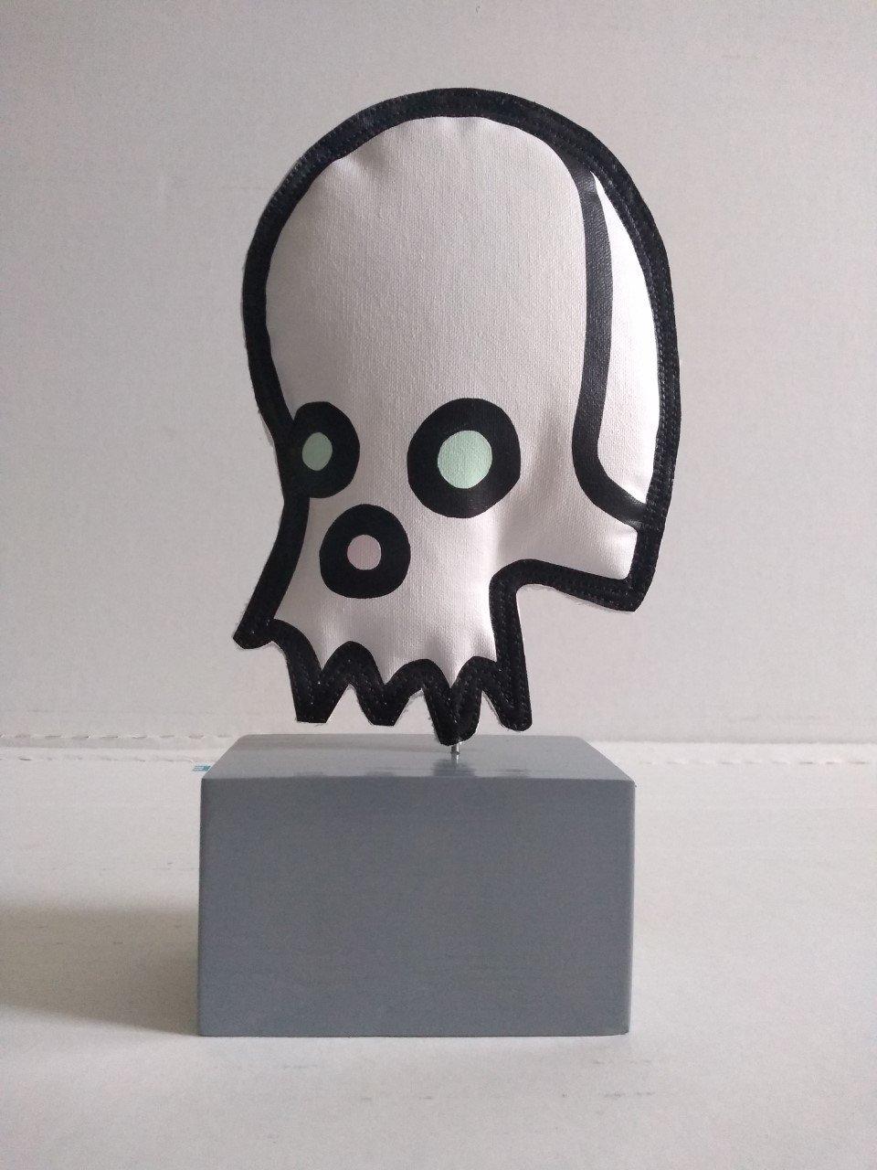 """Image of """"Celebrity Skull"""" (Soft Sculpture)"""