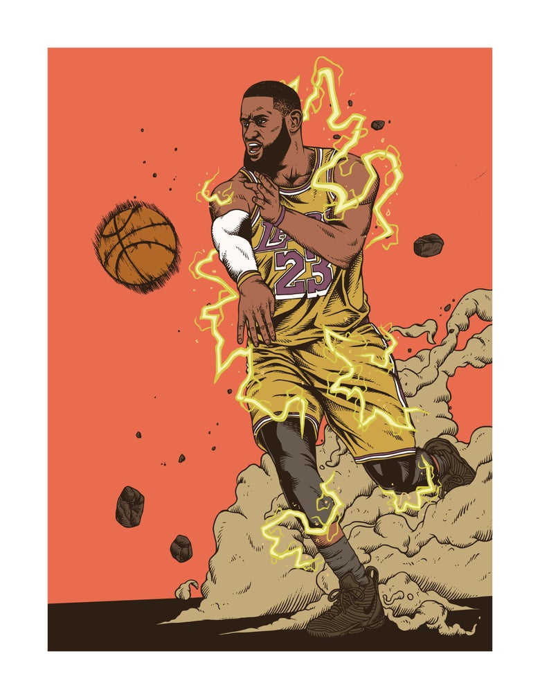 Image of Lebron/lakers
