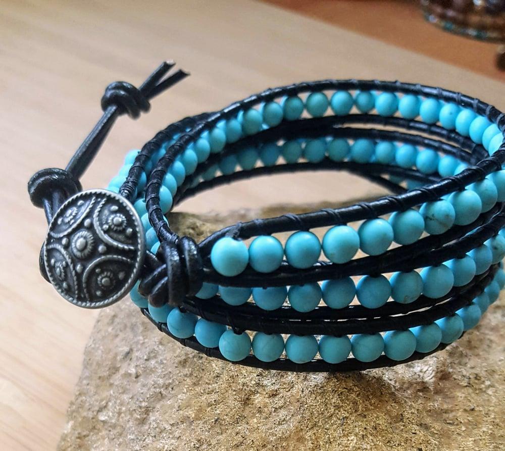 Image of Magnesite Triple Wrap Bracelet