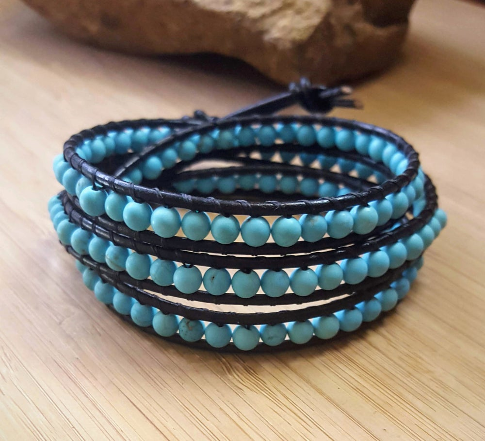 Image of Magnesite Triple Wrap Bracelet