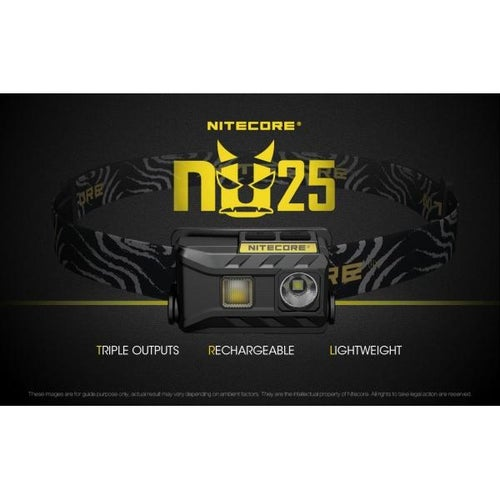 Image of Nitecore NU25 Rechargeable Headlamp - Black Strap