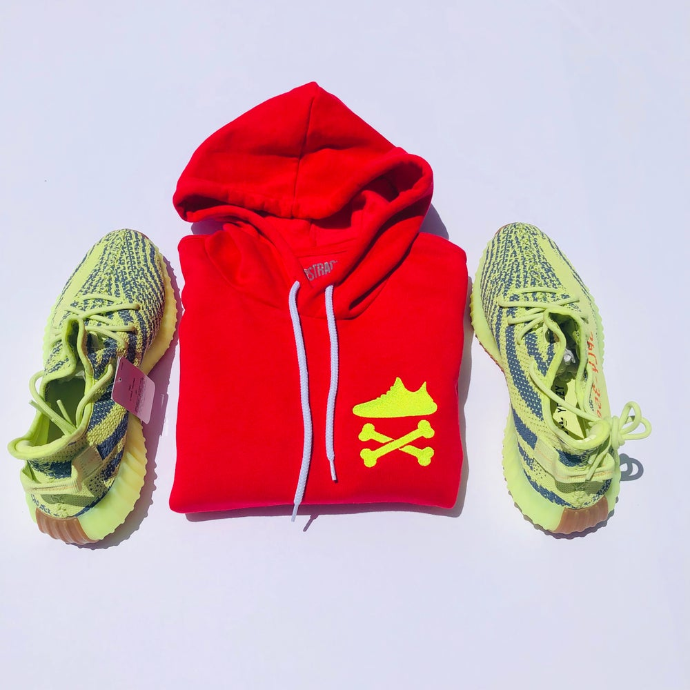 "YEEZY CROSSBONES EMBROIDERY ""NEON YELLOW"" HOODY"