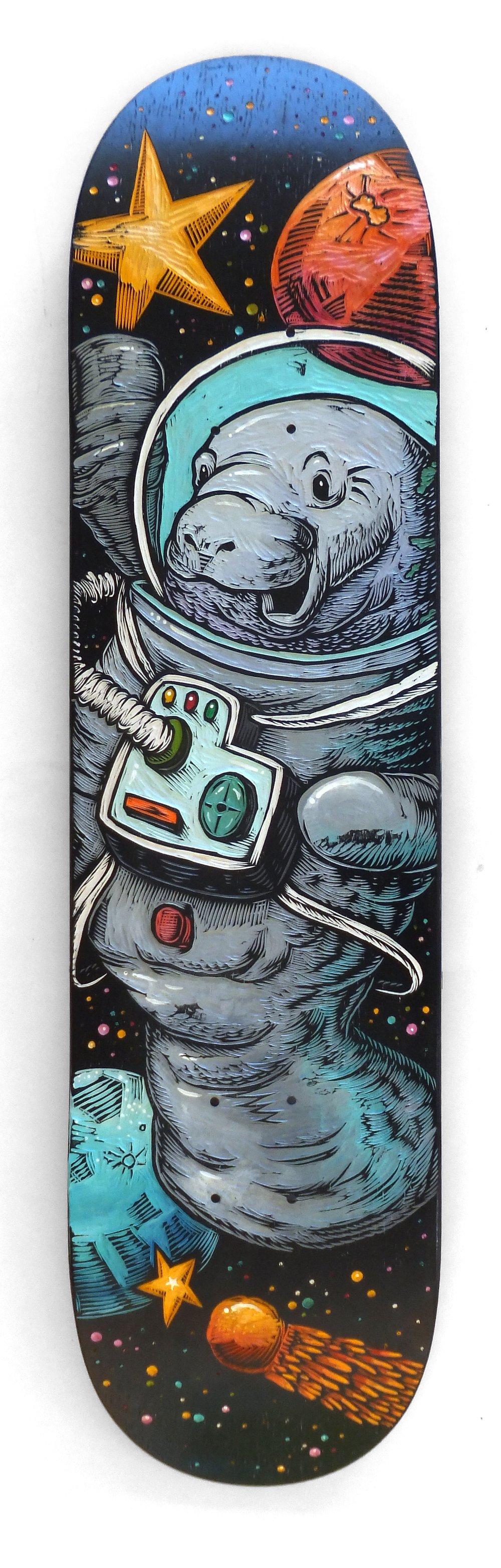 Space Manatee Skatedeck