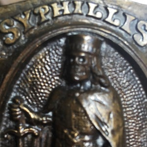 Image of SYPHILLIS No. 1  KILLER Vintage Belt Buckle