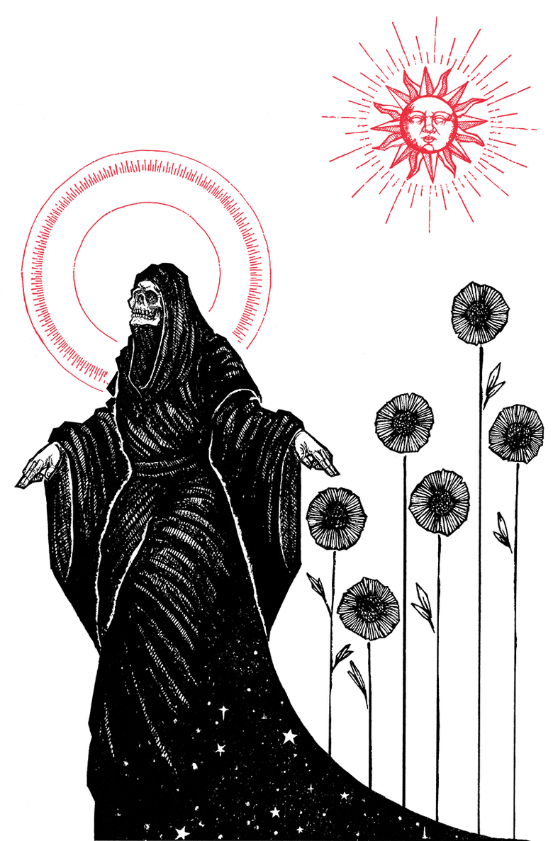 "Image of Six of Wands 8.5""x11"" Print"