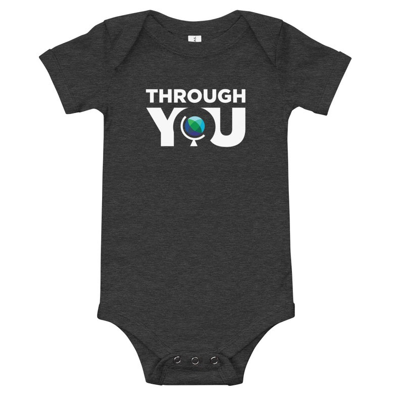Image of Dark Grey Heather Baby Onesie