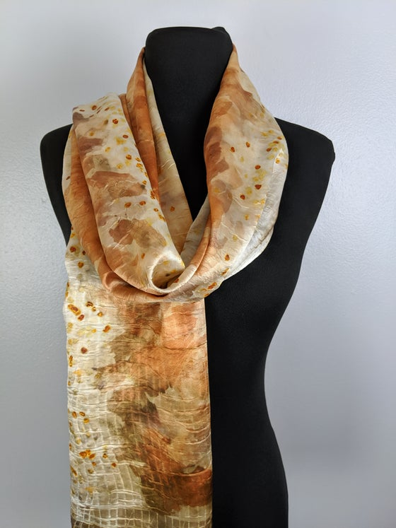 Image of Silk Scarf Dyed with Onion Skins
